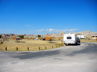 Our campsite at Cedar Pass Campground in the Badlands National Park in South Dakota