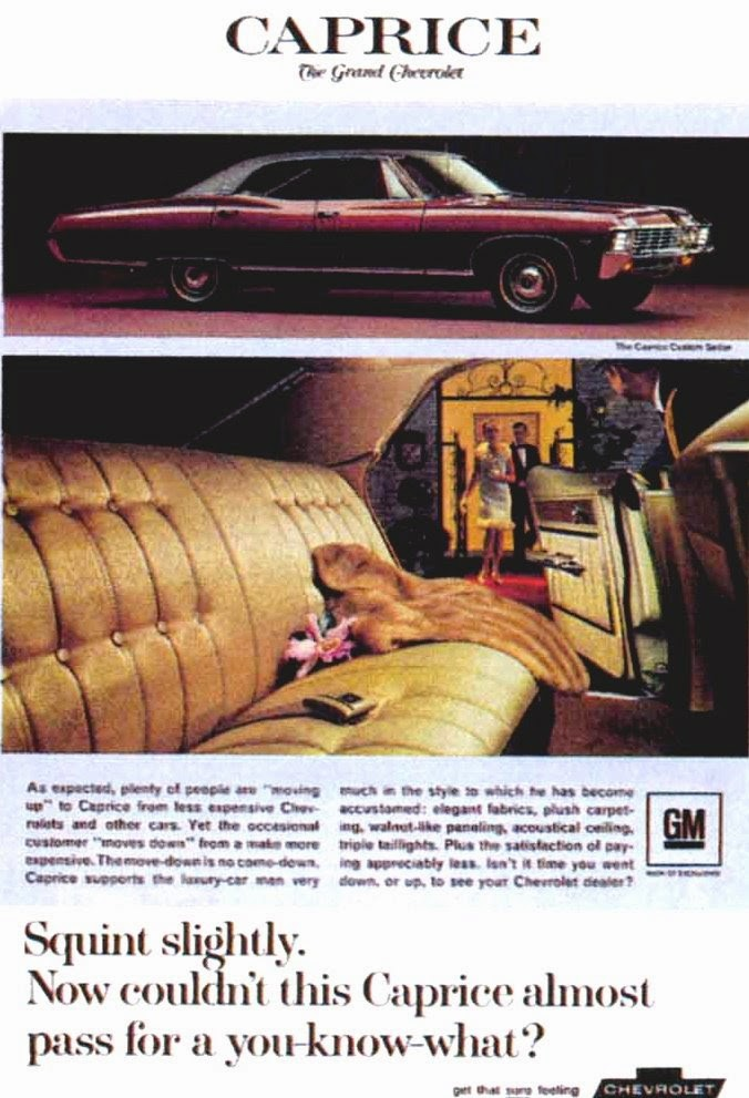 Magazine ad for 1967 Chevrolet Caprice