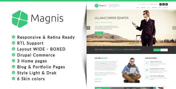 Magnis Corporate Multipurpose Drupal Theme