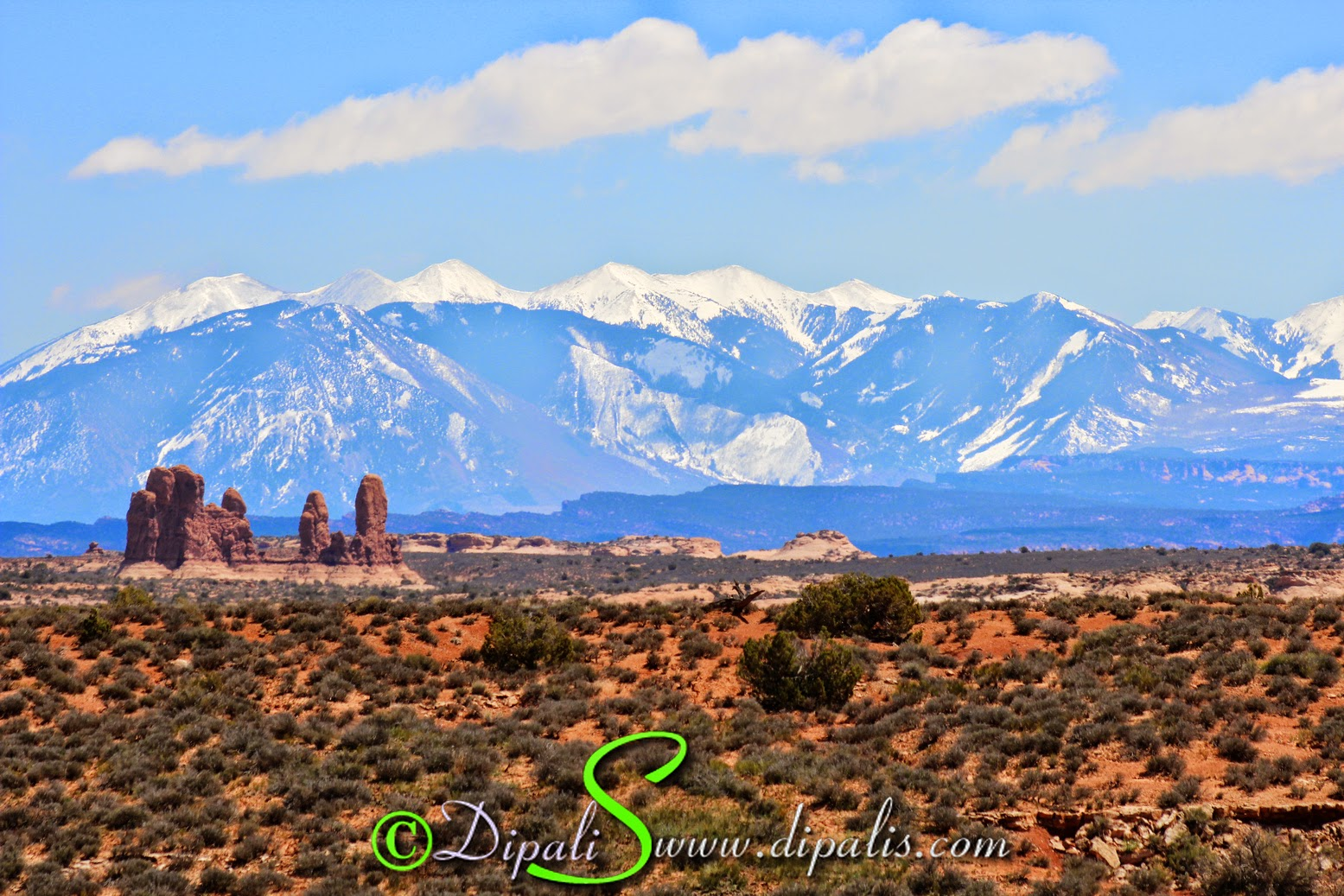 La Sal Mountains, Aches national park, Utah.