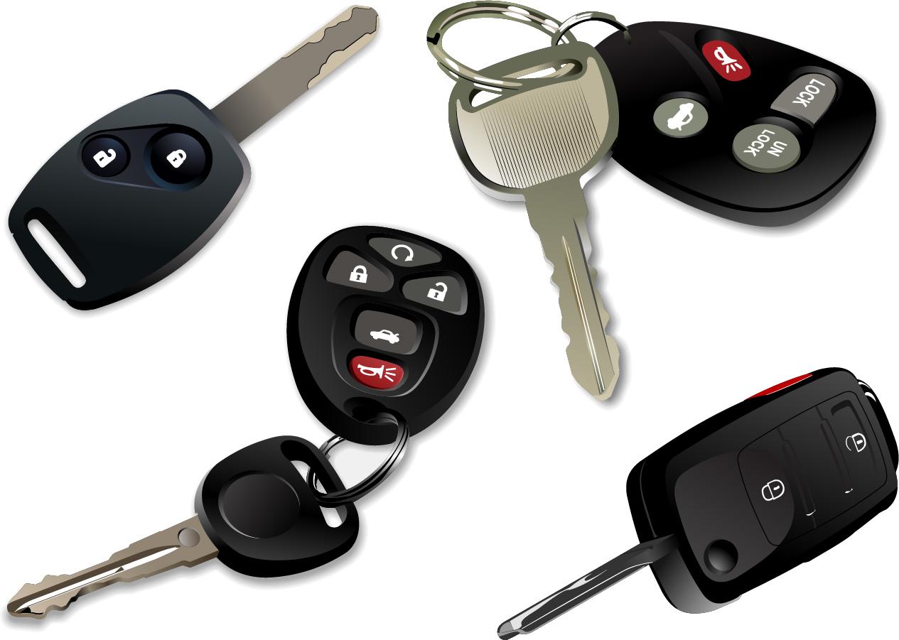 自動車の電子キー electronic car keys イラスト素材