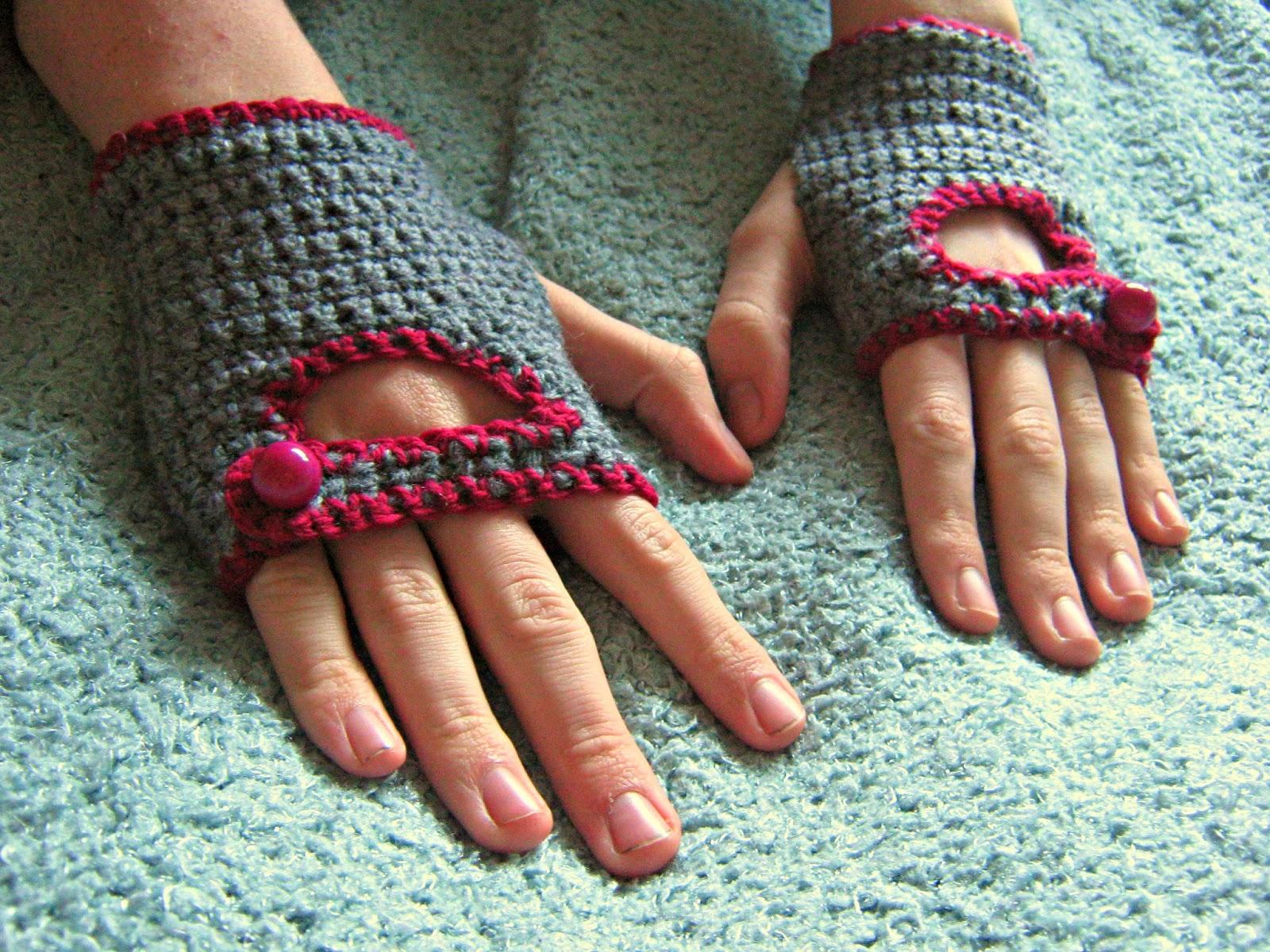 free crochet pattern biker gloves