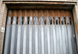 The shutter which needs replacing