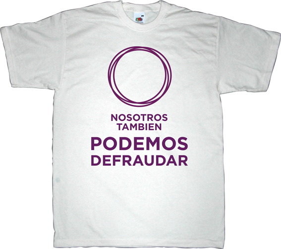 podemos useless spanish politics brand spain spain is different t-shirt ephemeral-t-shirts