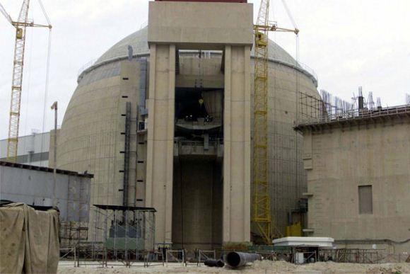 Bangunan utama pembangkit listrik tenaga nuklir Bushehr Iran