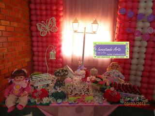 festa decoração bonecas