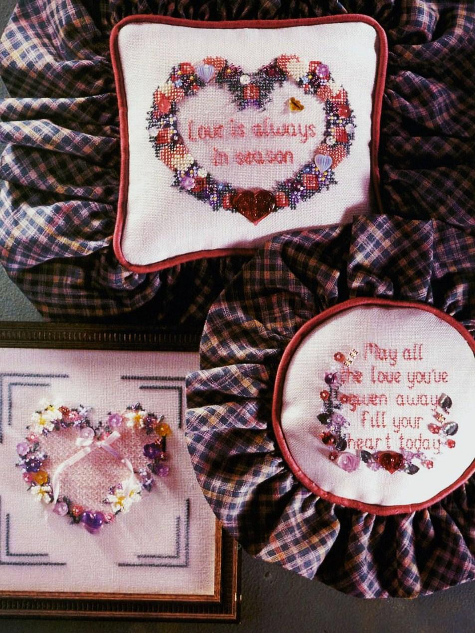 мини-схема для вышивки бисером сердечек