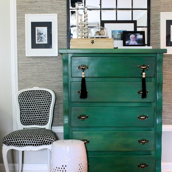 Emerald Green Grasscloth Wallpaper: My Chic Nest: The Color Of 2013: Emerald