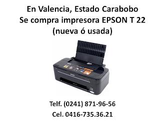 SE COMPRA EPSON T 22