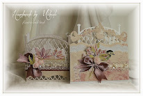 Flowers and bird set, card and holder