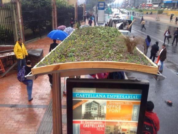 paraderos eco-urbanisticos Bogota Sostenibilidad
