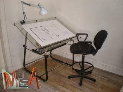 Mesas de dibujo de tablero plegable - Mesas de arquitecto ...