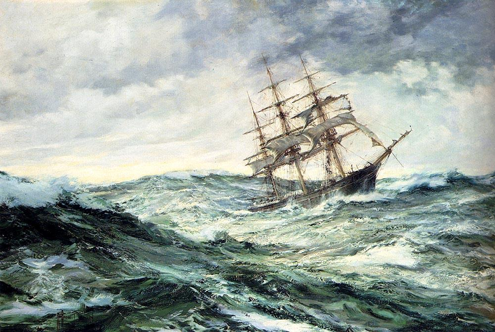 Book530 Paintingpic 0822h A Ship In Stormy Seas