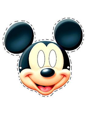 o mundo colorido máscaras do mickey e minnie para o carnaval