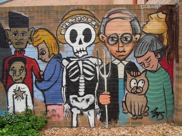 indiana street art mural