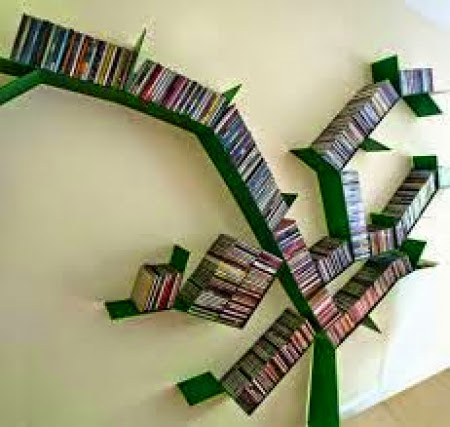 Tree shaped book shelve
