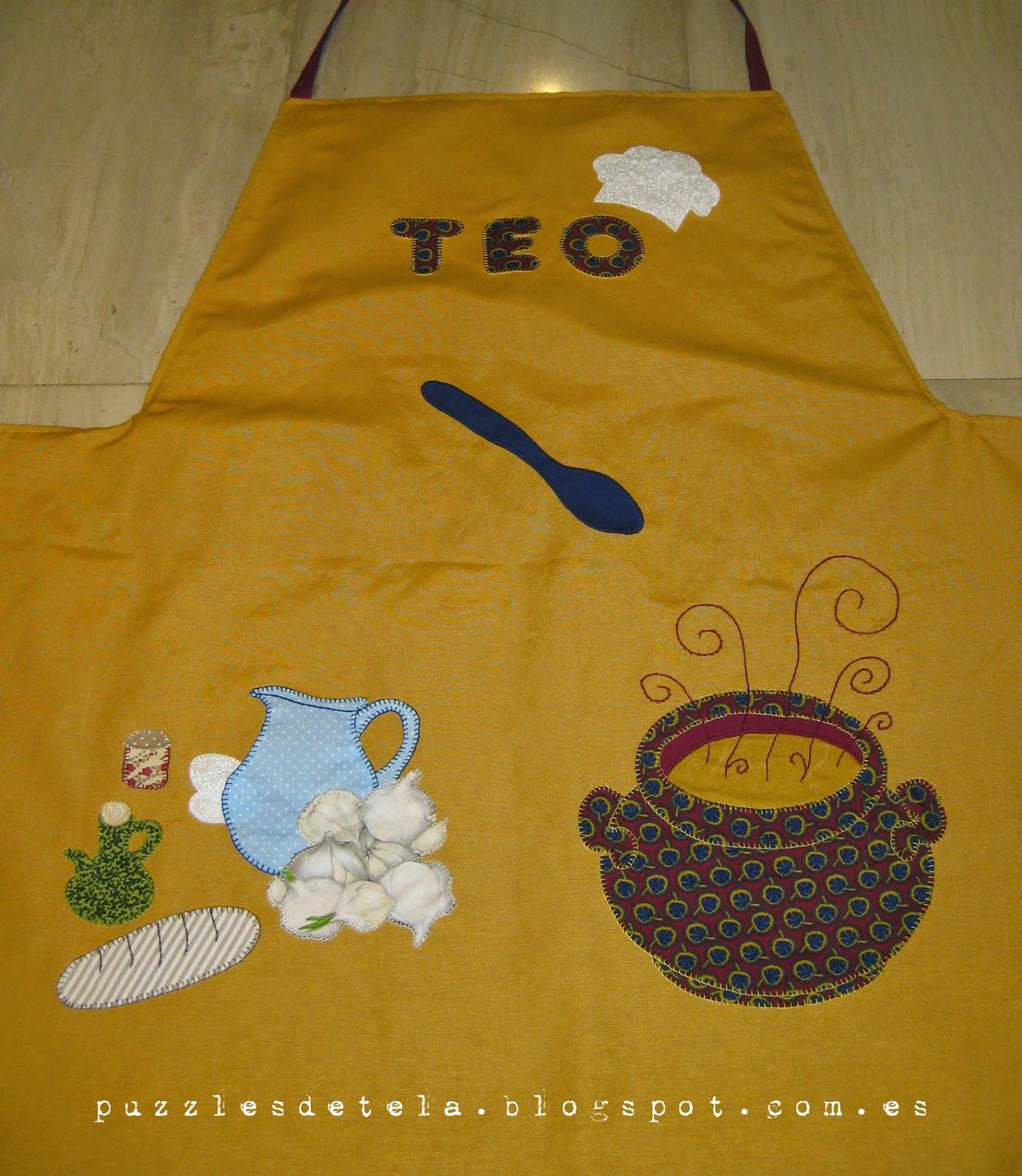 craft, hecho a mano, handmade, Delantal patchwork, delantal sopa de ajos, sopa de ajos, delantal hombre, delantal,Master chef, chef, pesadilla en la cocina,