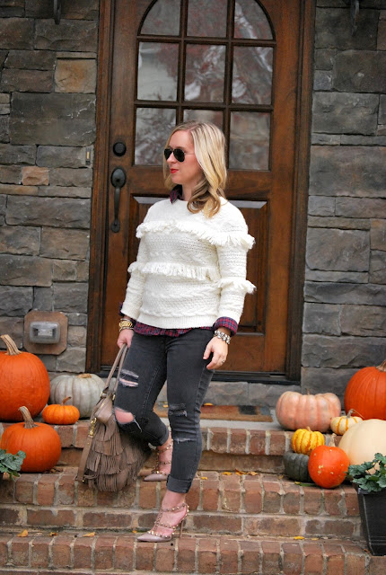 fringe sweater, how to style a fringe sweater