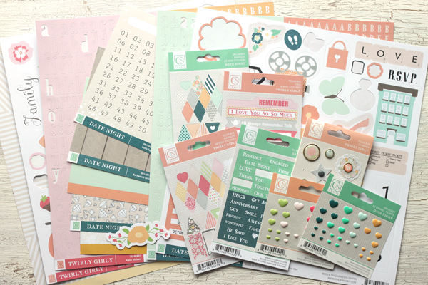Meghann Andrew Chickaniddy Crafts Oh Happy Day Layout supplies