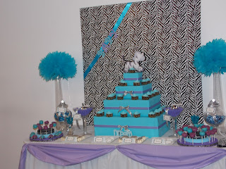 gifted creations by astrid teal lavender and zebra baby shower