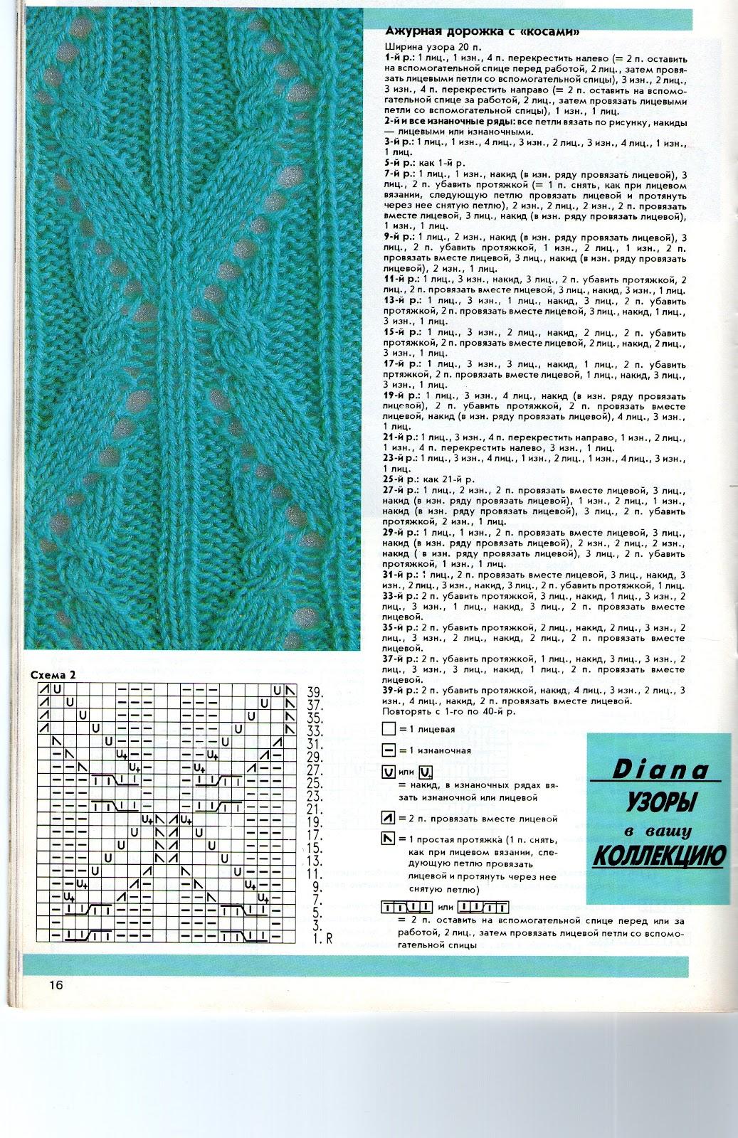 Узоры вязания спицами - Результаты из #130 9