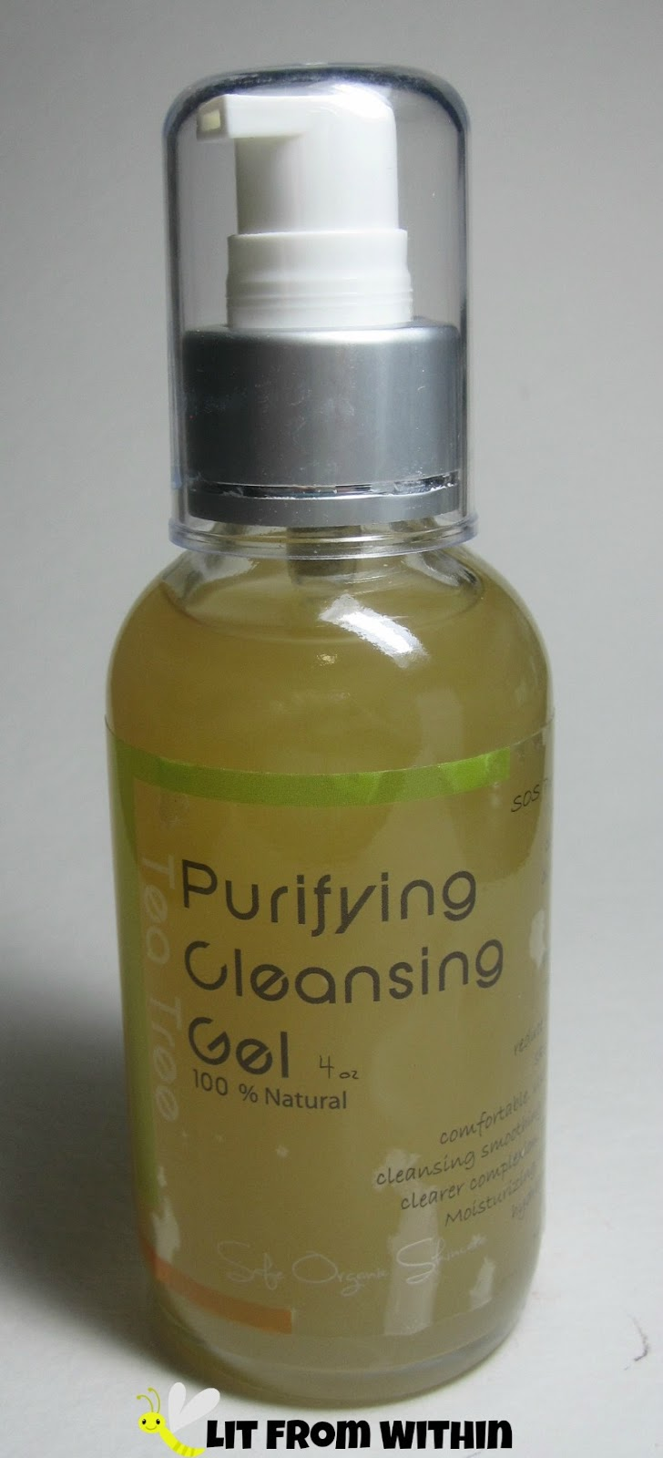 Safe Organic Skincare Tea Tree Purifying Cleansing Gel.
