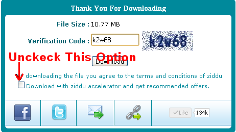 how to download files from ziddu