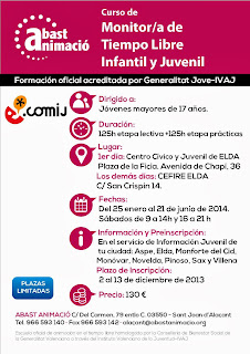 Ayuntamiento de Novelda MTL+COMIJ+2014 CURSO DE MONITOR DE TIEMPO LIBRE INFANTIL Y JUVENIL 2014
