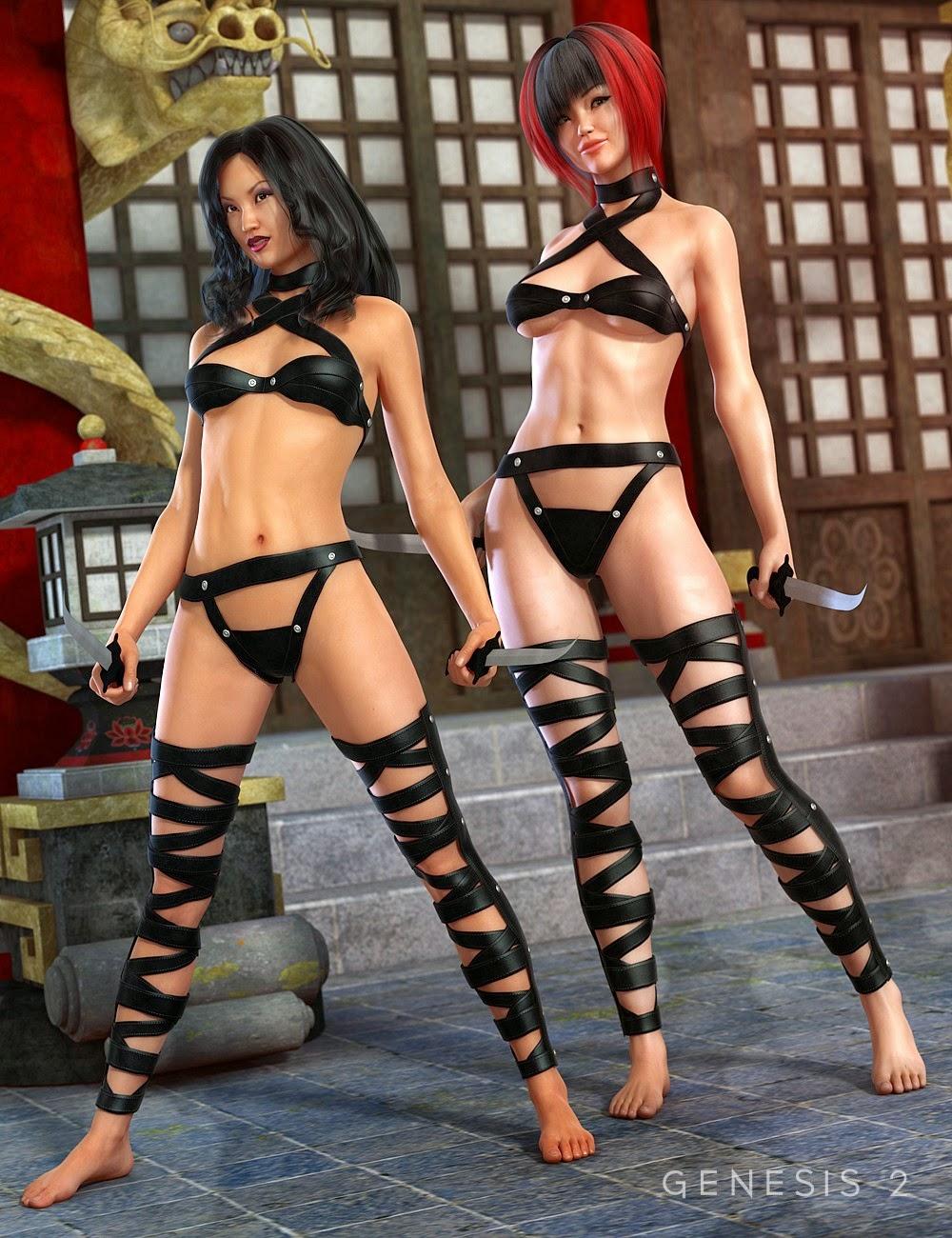 Serpent Assassin Outfit pour Genesis 2 Femme
