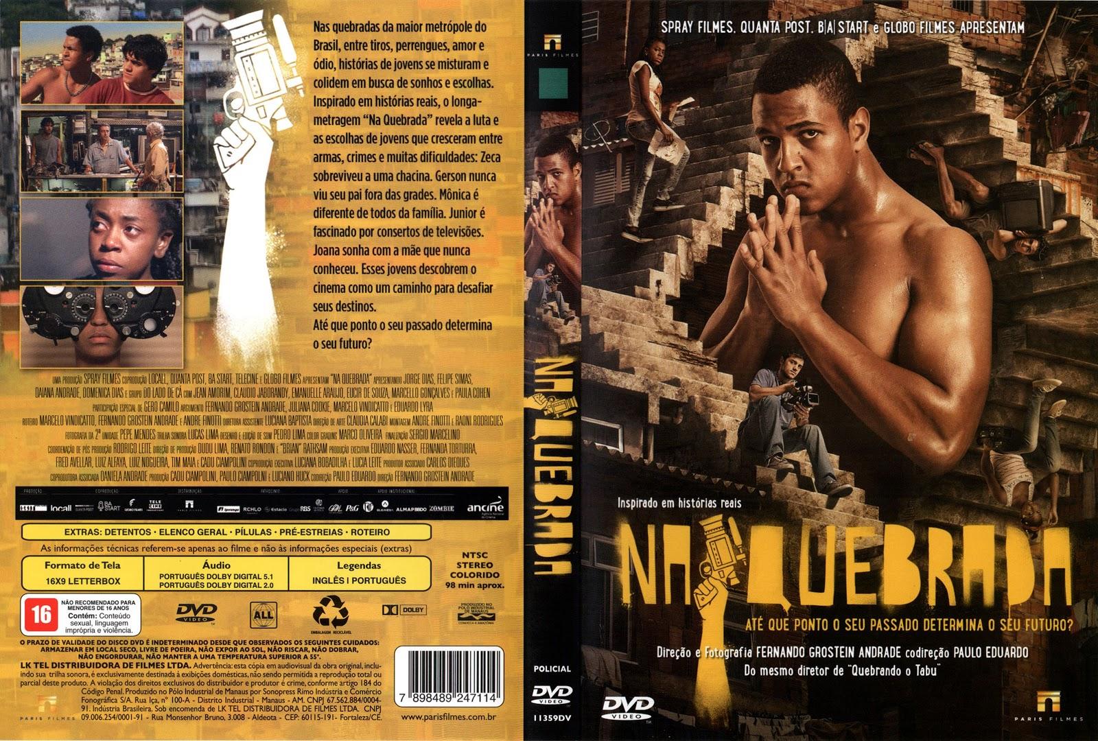 Capa DVD Na Quebrada