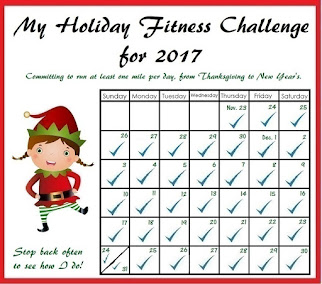 My Holiday Fitness Challenge for 2017 -- DONE!
