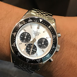 HEUER AUTAVIA HERITAGE WHITE PANDA DIAL - JACK HEUER 85th ANNIVERSARY LIMITED EDITION 1932 WATCHES