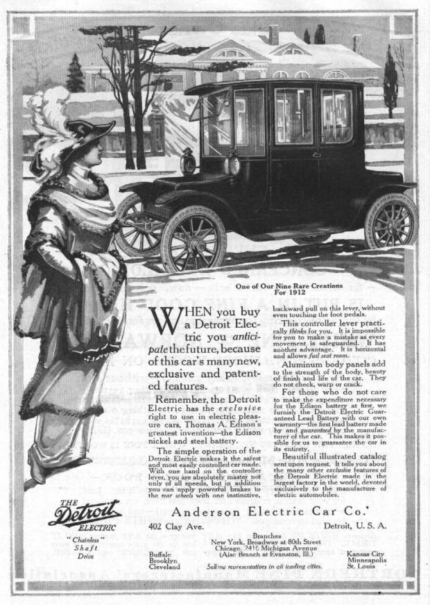 Detroit Electric Car 1907 1939 Vintage Everyday