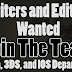 Join The Team, Become An Editor or Writer