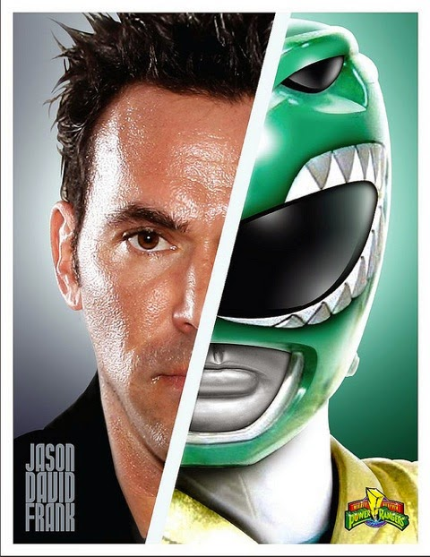 Jason David Frank photographed as the Green Power Ranger