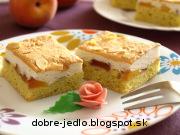 Broskyňový koláč so snehom - recept