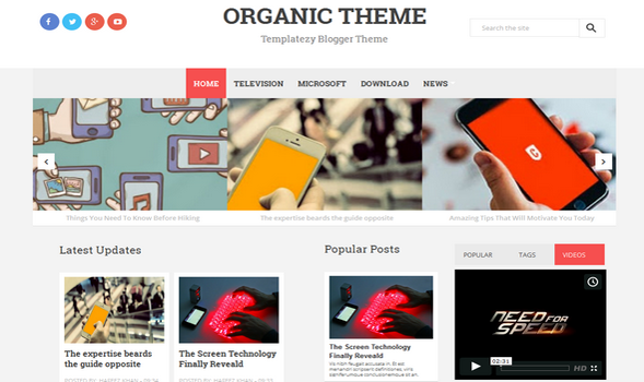 Organic-Responsive-Blogger-Template