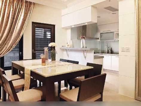 desain dapur serta ruang makan yang modern model rumah