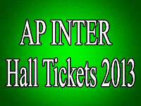 AP Intermediate 2nd Year Halltickets 2013
