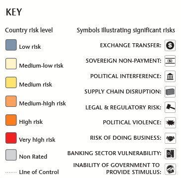 政治 社会リスク マップ 世界地図