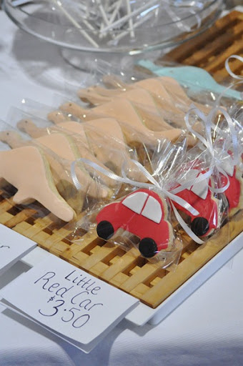 short and sweet car cookies