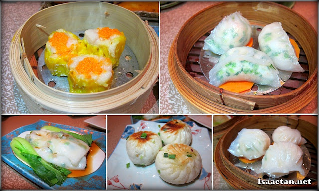 An assortment of buffet Dim Sums are available for the picking