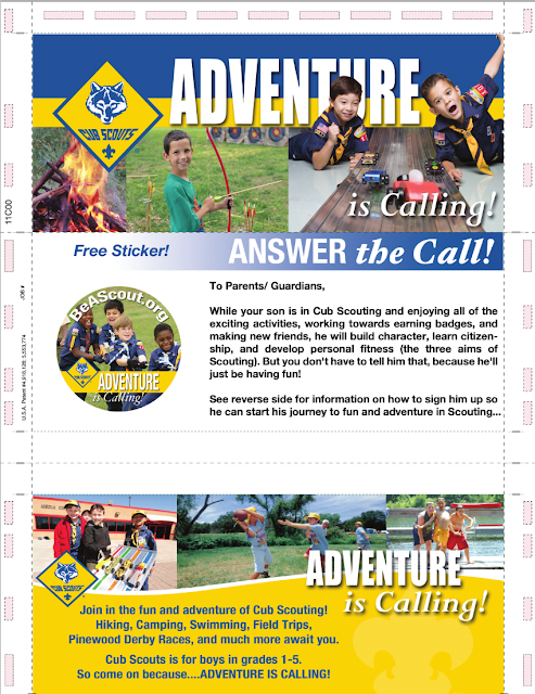 2 sticker template - Adventure Is Calling Cub Scout Recruiting Mailer
