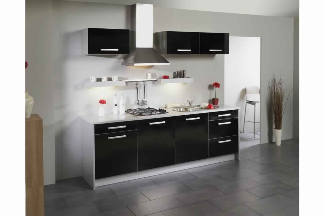beautiful meuble de cuisine gris pas cher contemporary - amazing