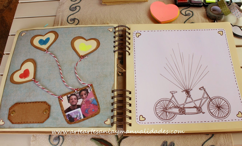 Arte artesania y manualidades libro de firmas y decoraci n de boda scrapbooking - Decorar album de fotos por dentro ...