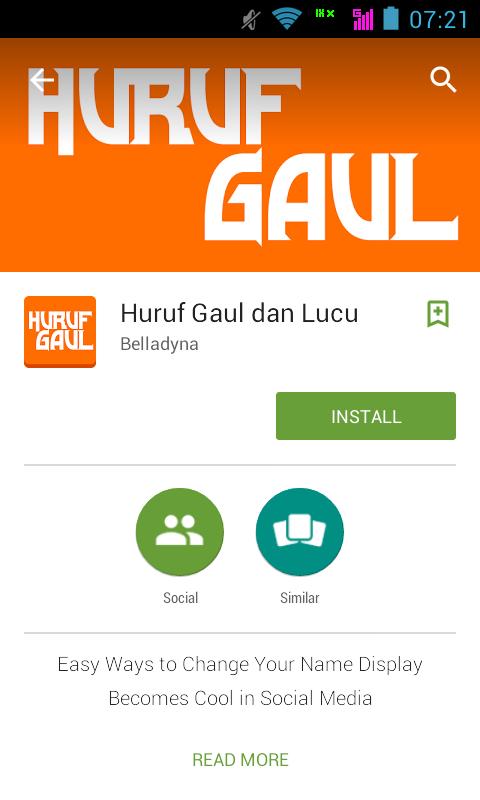 Aplikasi Huruf Gaul for Android