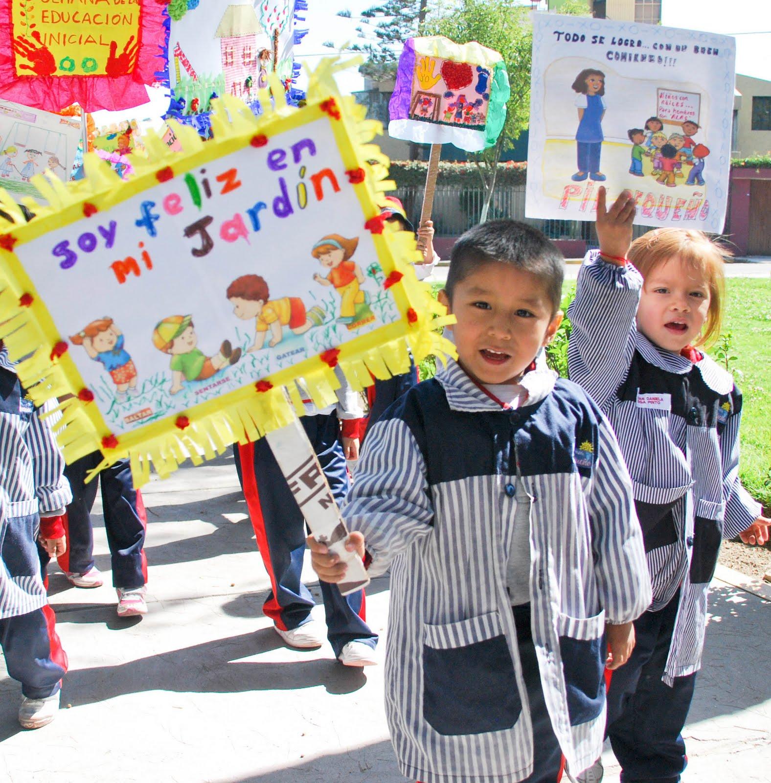 Celebrando el día de la Educación inicial nuestros niños tuvieron