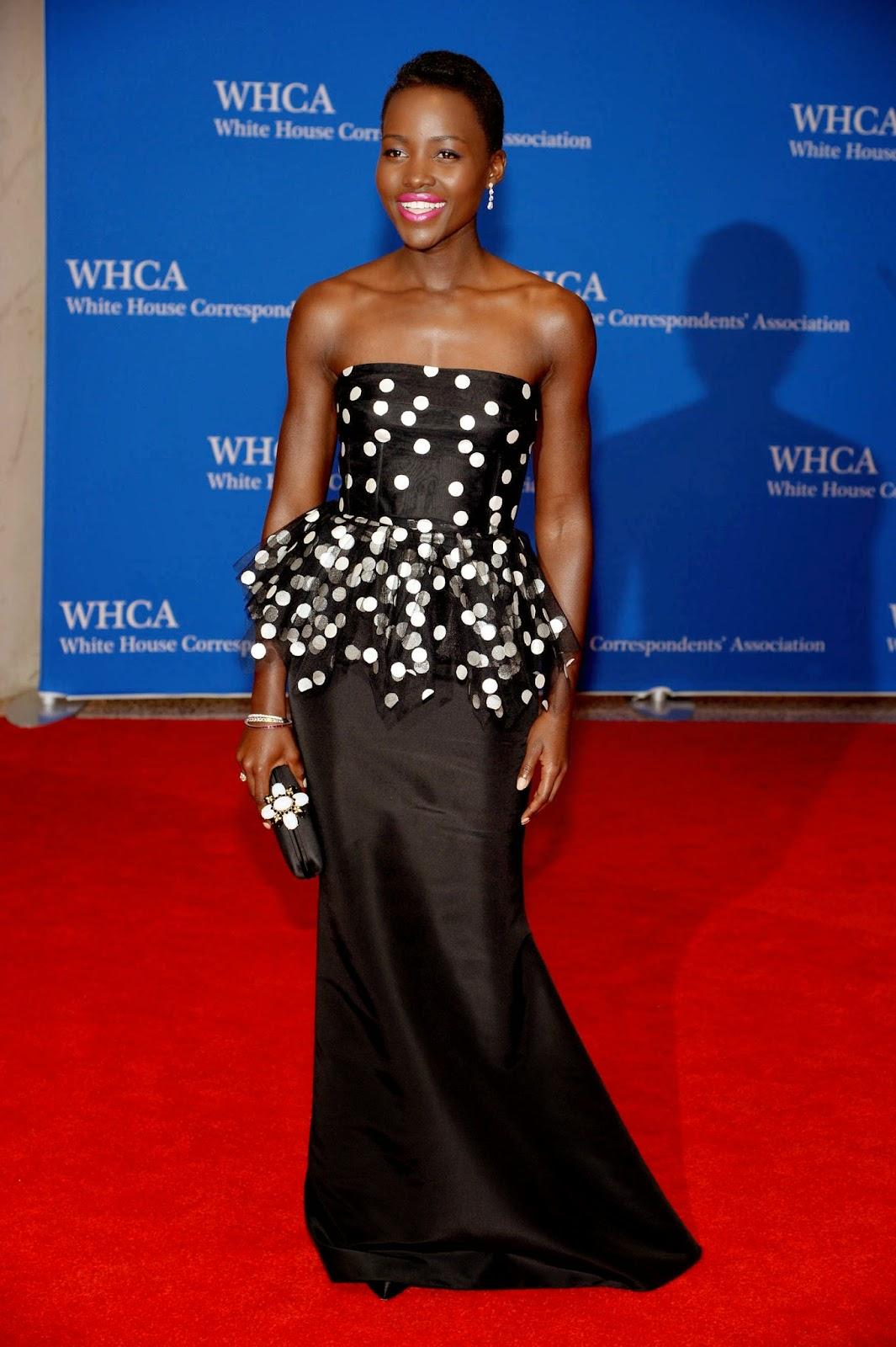 Lupita Nyong'o Oscar de la Renta