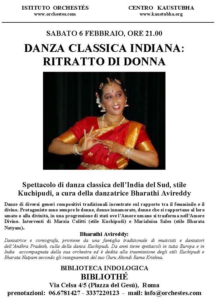 Spettacolo Danza Kuchipudi a Roma