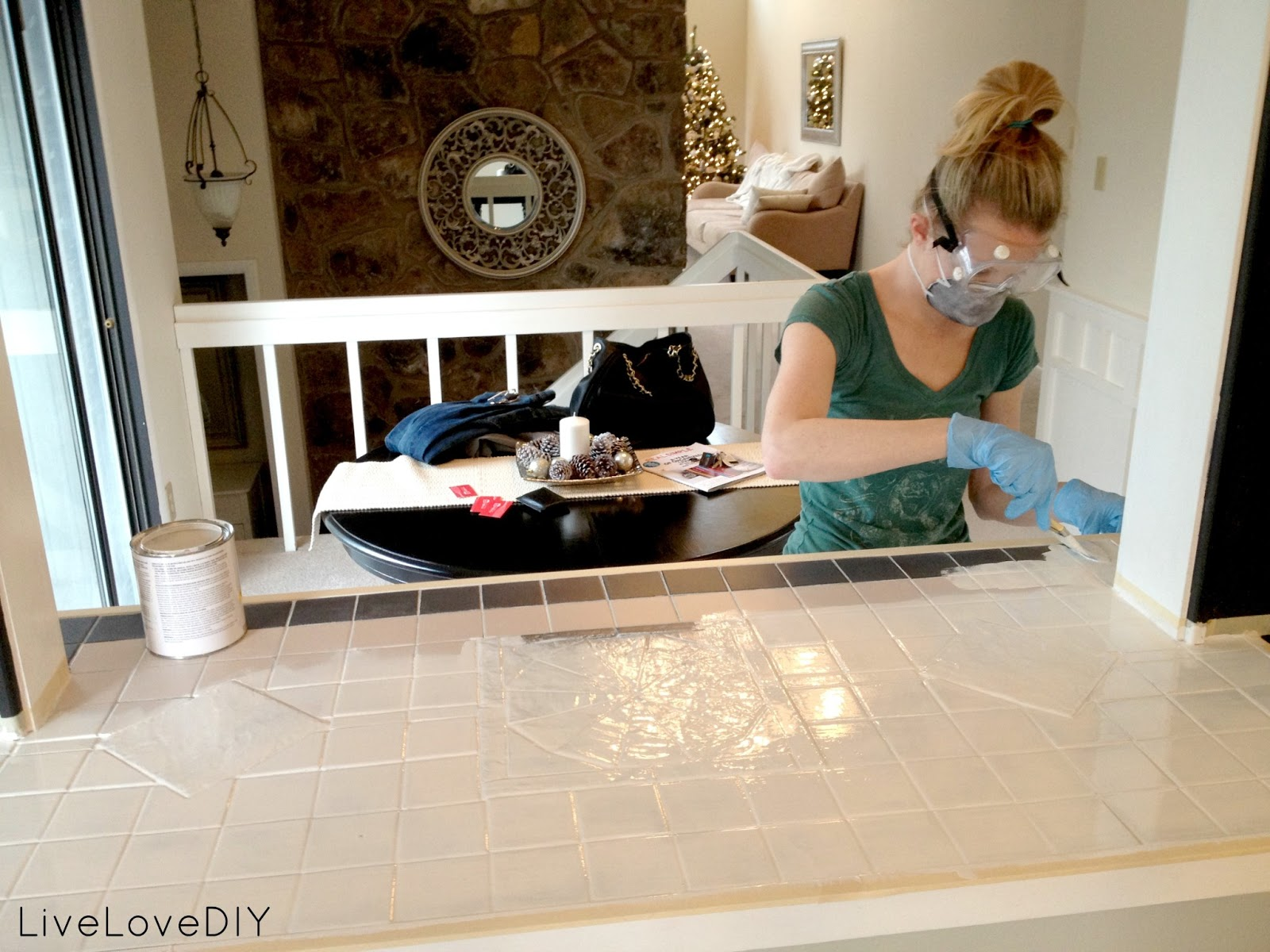 Painting Tiles In The Kitchen How To Paint Tile And Update Your Kitchen Livelovediy Bloglovin